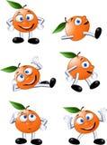 Carácter anaranjado divertido Fotografía de archivo