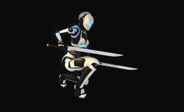 Carácter androide Fotografía de archivo