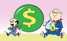 Carácter cómico de la historieta (corruptor) Fotografía de archivo libre de regalías