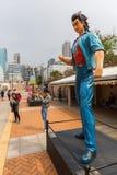 Carácter cómico en la avenida de estrellas cómicas en Hong Kong Imagenes de archivo