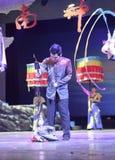 Carácter chino de la ópera del alambre de la demostración china del puppetry Foto de archivo libre de regalías