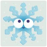 Carácter congelado lindo del copo de nieve de la Navidad Imagenes de archivo