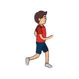 carácter corriente del avatar del atleta del hombre ilustración del vector