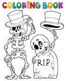Carácter 6 de Halloween del libro de colorear ilustración del vector