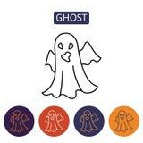 Carácter de Halloween de la historieta del fantasma Fotografía de archivo