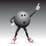 Carácter de la bola de bowling pulso una actitud Fotos de archivo
