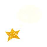carácter de la estrella de la historieta con la burbuja del pensamiento Foto de archivo libre de regalías