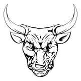 Carácter de la mascota de Bull Imagen de archivo libre de regalías