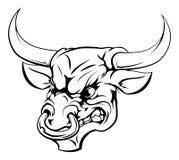 Carácter de la mascota de Bull Imagenes de archivo