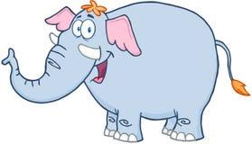 Carácter de la mascota de la historieta del elefante Stock de ilustración