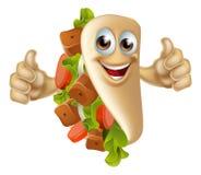 Carácter de la mascota del kebab Foto de archivo