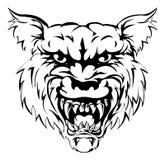 Carácter de la mascota del lobo Fotografía de archivo libre de regalías