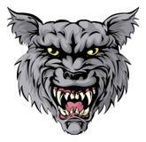 Carácter de la mascota del lobo Imagenes de archivo