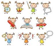 Carácter de la niña libre illustration