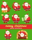 Carácter de las emociones de Papá Noel Foto de archivo
