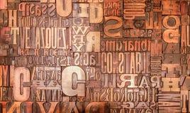 Carácter de letras de la impresión del alfabeto fotografía de archivo