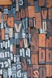 Carácter de letras de la impresión del alfabeto como modelo fotografía de archivo