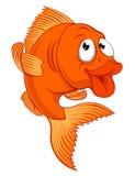 Carácter de los pescados del oro de la historieta o de los pescados del oro Fotografía de archivo