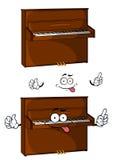 Carácter de madera marrón del piano de la historieta Fotografía de archivo libre de regalías