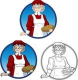 Carácter de señora Santa Claus Mother Christmas Imágenes de archivo libres de regalías