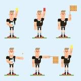 Carácter del árbitro del fútbol imagen de archivo