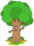 Carácter del árbol de la historieta stock de ilustración
