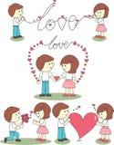Carácter del amor Fotos de archivo