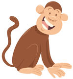 Carácter del animal de la historieta del mono libre illustration