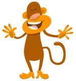 Carácter del animal del mono de la historieta ilustración del vector