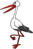 Carácter del animal del pájaro de la cigüeña Foto de archivo libre de regalías