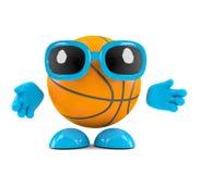 carácter del baloncesto 3d ilustración del vector