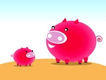Carácter del cerdo Ilustración del Vector