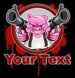 Carácter del cerdo o historieta de la mascota fotografía de archivo libre de regalías