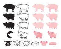 Carácter del cerdo y sistema del cerdo imagen de archivo