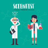 Carácter del científico Foto de archivo libre de regalías