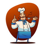 Carácter del cocinero de la historieta Foto de archivo libre de regalías