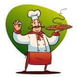 Carácter del cocinero de la historieta Fotografía de archivo