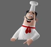 carácter del cocinero de la historieta 3d Foto de archivo libre de regalías