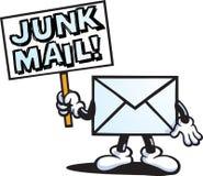Carácter del correo de desperdicios Foto de archivo