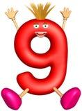 Carácter del dígito de nueve libre illustration