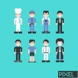 Carácter del empleo en pixel Imagen de archivo