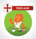 Carácter del fútbol del león Fotografía de archivo