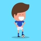 Carácter del futbolista Jugador de fútbol italiano ilustración del vector