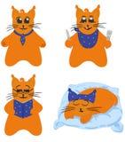Carácter del gato, serie de los tebeos libre illustration