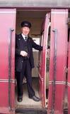 Carácter del guardia del tren Fotos de archivo libres de regalías