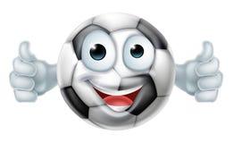 Carácter del hombre de la bola del fútbol de la historieta Fotos de archivo