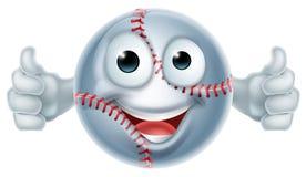Carácter del hombre de la bola del softball de la historieta Imágenes de archivo libres de regalías
