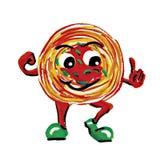 Carácter del hombre de los espaguetis de la pintura fotografía de archivo libre de regalías