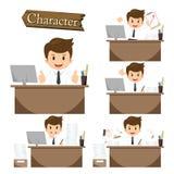 Carácter del hombre de negocios en vector determinado de la oficina Fotos de archivo