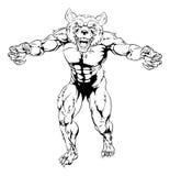 Carácter del hombre lobo Imágenes de archivo libres de regalías